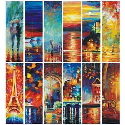 30pcs Colorful Scenery Vintage Retro Paper Book Mark Bookmark Book Label Gifts