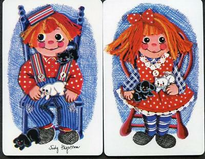 Raggedy Ann And Andy Swap Card Pair (New)