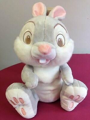 """Disney Store Thumper Rabbit Plush From Bambi Approx 14"""" Authentic VGC."""