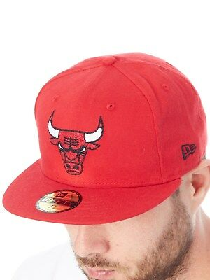 New Era Scarlet NBA Chainstitch 59Fifty - Chicago Bulls Fitted Cap