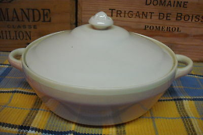 Vintage Serving Dish Lidded Tureen, Susie Cooper Production, Creamy White & Pink
