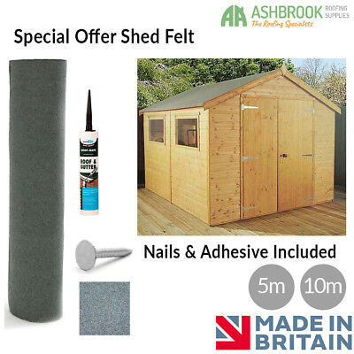 Special Offer Shed Felt | Green Mineral Shed Felt | Roofing Felt | Free Adhesive