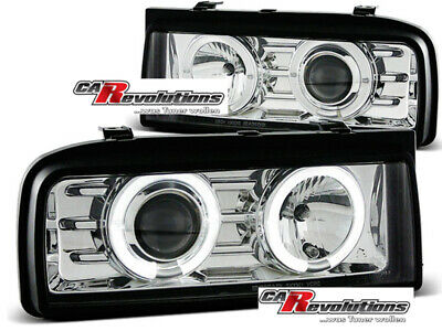 VW Corrado 88-95 - LED Angel Eyes Scheinwerfer in chrom