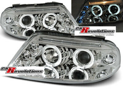 VW Passat 3BG 09.00-03.05 - Angel Eyes Scheinwerfer in chrom