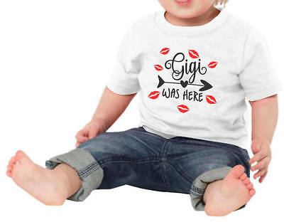 Gigi Was Here Baby Shower Idea Boy Girl Toddler Clothes Romper New Grandparent