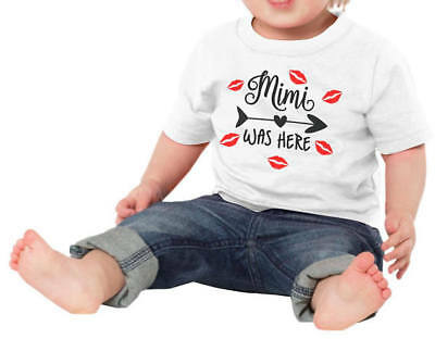 Mimi Was Here Baby Shower Idea Boy Girl Toddler Clothes Romper New Grandparent