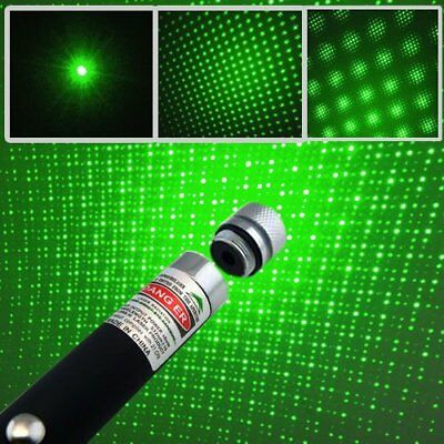 Adjustable Green Laser Pointer Lazer Pen Beam Light Focus 532nm 5mw high power O