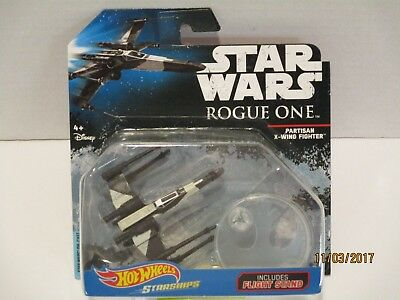 Star Wars Hot Wheels STARSHIPS  Partisan X-WING FIGHTER w/Flight Stand DYK03 Toy