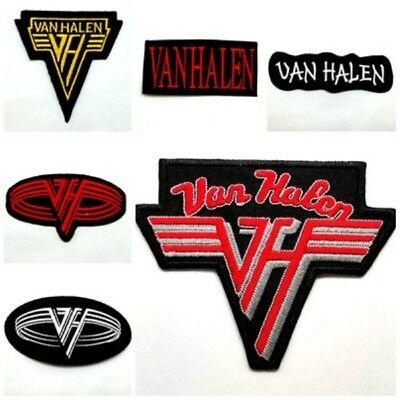 New Van Halen Patch Sew Iron On Embroidered Rock Band Heavy Metal Logo Music DIY