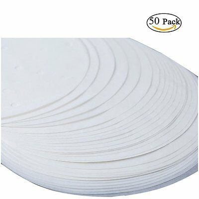 "50 X 18cm (7"")  Non Stick Round Greaseproof Parchment Paper Cake Tin Liners"