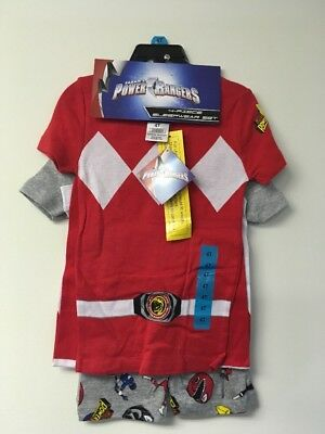Power Rangers Boys 4 Piece Sleepwear Set,4T. 2 Shirts, Shorts and Long Pants.