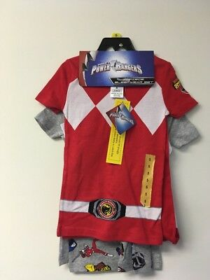 Power Rangers Boys 4 Piece Sleepwear Set,5. 2 Shirts, Shorts and Long Pants.