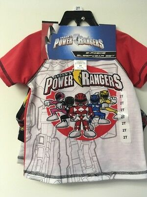 Power Rangers Boys 3 Piece Sleepwear Set,5. 1 Shirts, Shorts and Long Pants.