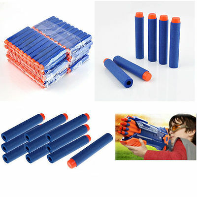 200pcs Bullet Darts For NERF Kids Toy Gun N-Strike Round Head Blasters #S Blue