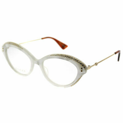 862e5f18b3 GUCCI GG 0215O 001 Black Plastic Cat-Eye Eyeglasses 51mm -  285.00 ...