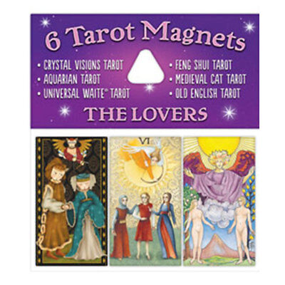"""The Lovers Tarot Magnets NEW Set of 6 Mini 2.25"""" Magnet Art by US Games"""