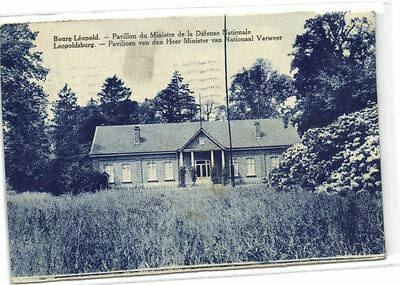 1 old postcard Camp Beverloo heer minister national verweer