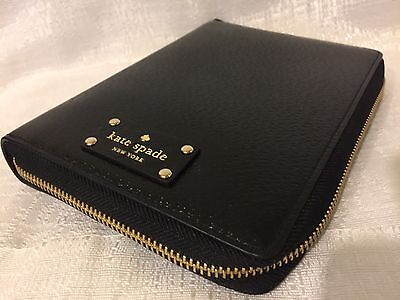 NWT Kate Spade Black Wellesley 2017 Zip Around Personal Organizer Planner Agenda
