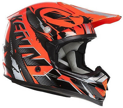 Casque Track Orange Fluo - Kenny - Taille M - ECE 22-05 - cross- enduro - jetski