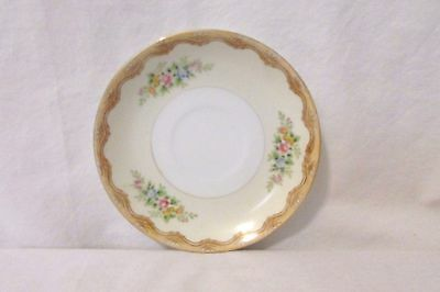 Vintage Noritake Saucer Floral Hand Painted With Gold Trim Japan