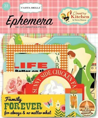 "Carta Bella ""country Kitchen"" Ephemera Die Cuts Cooking Gardening Scrapjack's"