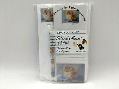 New Pomeranian List Pad Note Pad Magnet & Pen Stationery Gift Pack By Ruth POM-5