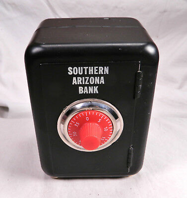 Vintage Southern Arizona Bank,steel Coin Bank Safe W/door & Combo Lock Works !