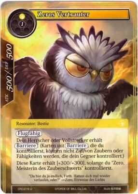 Force of Will TCG Karte #CFC-016 Zeros Vertrauter - Fluch des Eisigen Sarges