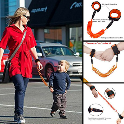 Anti-Lost Wrist Link Strap Leash For Toddlers Kids Safety Harnes Blue Hand Belt,