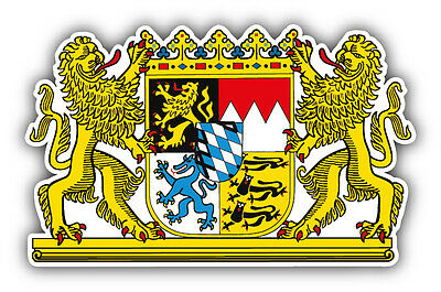 Bavaria Germany Coat Of Arms Car Bumper Sticker Decal 5'' x 3''