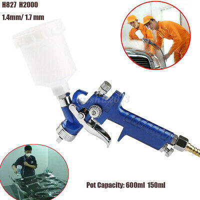 1.4mm 1.7mm HVLP Spray Gun Paint Nozzle Gravity Feed Air Tool Painted Sprayer