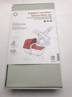 Genuine Bugaboo Cameleon 3 Red Extendable Hood Canvas Fabric Pack 2 pc Set New