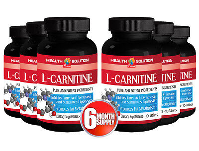 L-Carnitine 500mg w/ Vitamin B6 Muscle Endurance Recovery Energy 6 B 180 Tablets
