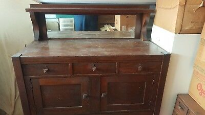Antique Mission Oak Sideboard Buffet Deco Turn Of The Century