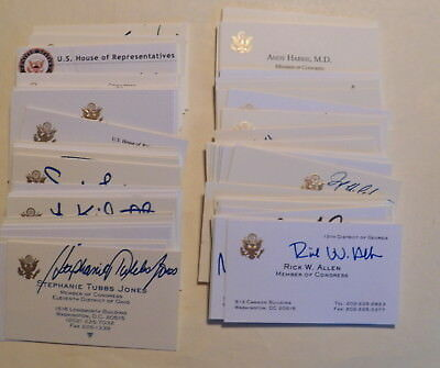 US CONGRESSIONAL Autographed Business Cards-LOT of 90 (House of Representatives)