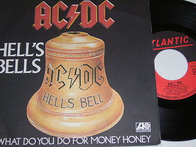 """7"""" - AC/DC - Hell´s Bells & What do you do for Money honey - MINT France # 4780"""