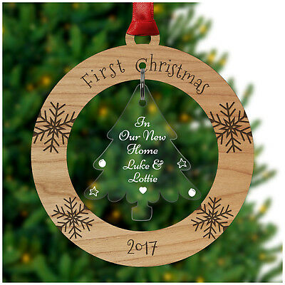COUPLES First Christmas in our New Home PERSONALISED Xmas Tree Decorations Gifts