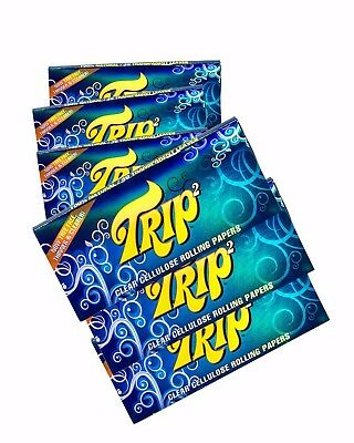 6 Packs King Size Trip 2 Clear Cellulose Transparent Cigarette Rolling Papers
