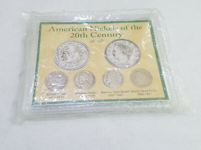 American Nickels of the 20th Century Sealed Plastic Wartime Silver - 7696