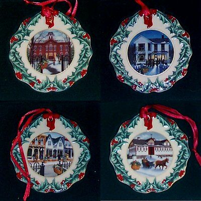 Longaberger Collectors Club Christmas Ornaments 1996, 1997, 1998 and 1999