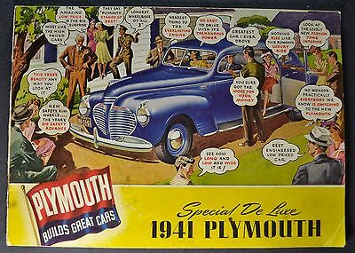 1941 Plymouth 20pg Catalog Sales Brochure Station Wagon Nice Original 41
