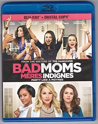 Bad Moms (Blu-ray Disc, 2016, Canadian) Mila Kunis, Kristen Bell, Kathryn Hahn