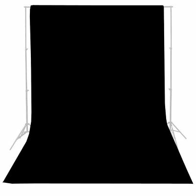 10ft Pure Black Photography Wall Backdrop Studio Photo Props Vinyl Background TO