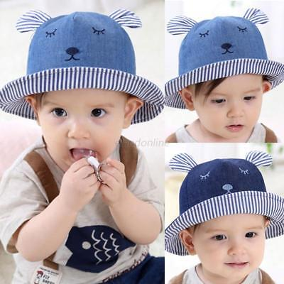 AU Newborn Baby Girl Boy Summer Bucket Beach Outdoor Sun Hat Toddler Cap Infant