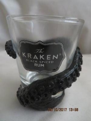 The Kraken Black Spiced Rum Tentacle Wrapped Shot Glass Set of 4 Brand New, Box