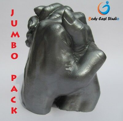"Couples, Family Holding Hand 3D Casting Kit | ""Jumbo"" Pack, 4-5 Adult Hand"