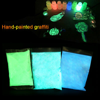 100g Decoration Nail Art Dust Glow In The Dark Fluorescent Powder Pigment