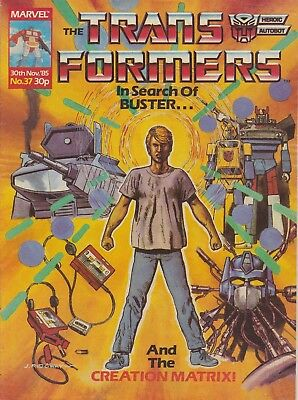 The Transformers #37 Marvel UK (1985) Rare British Weekly Comic