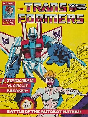 The Transformers #34 Marvel UK (1985) Rare British Weekly Comic
