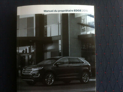 Ford Edge  Owners Manual In French Near Mint